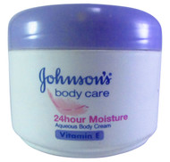 Johnson's 24-Hour Moisture Aqueous Body Cream Vitamin E