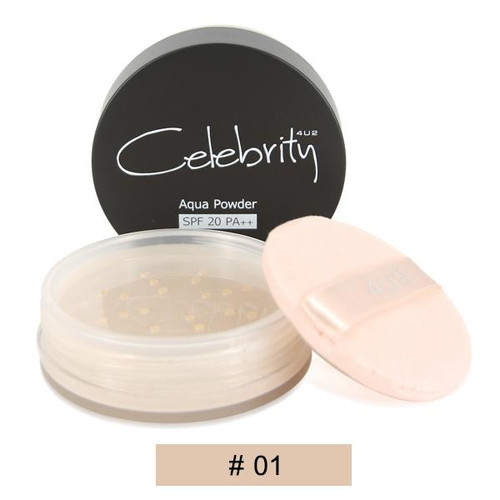 4 U 2 Cosmetics Celebrity Aqua Powder SPF20 PA+++ 01