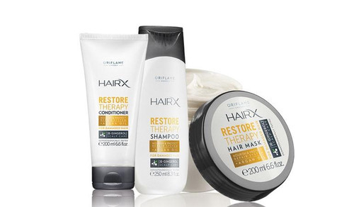 Oriflame HairX Restore Therapy Hair Mask, Shampoo & Conditioner