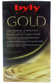 Byly Depil Gold Hair Removal Strips Face 12