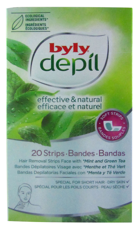 Byly Depil Mint And Green Tea Strips Face 20 Pieces Pack