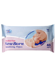 Cool & Cool New Born Sanitizing 40 Wipes