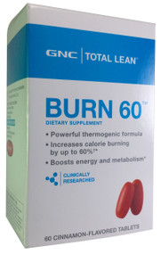 GNC Total Lean Burn 60 Dietery Supplement 60 Cinnamon Tablets