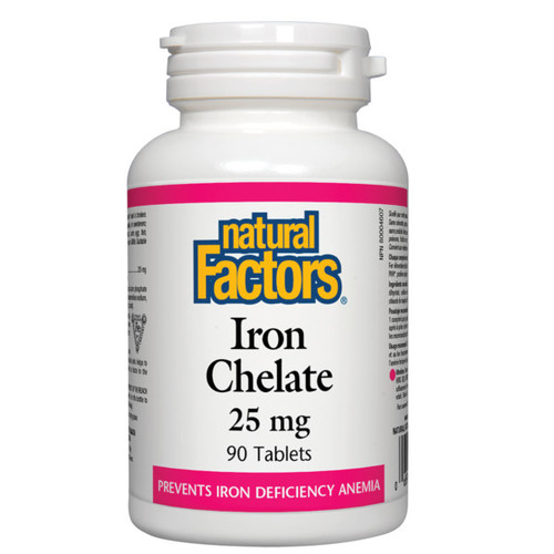 Natural Factors Iron Chelate 25 mg 90 Tablets