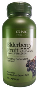 GNC Herrbal Plus Elderberry Fruit 550 mg