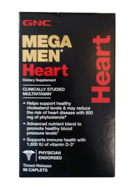 GNC Mega Men Heart 90 Caplets