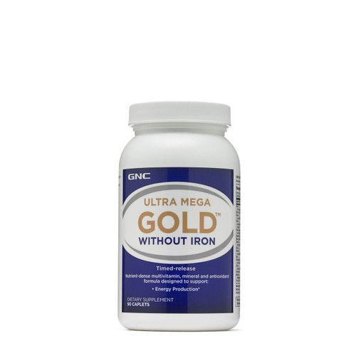 GNC Ultra Mega Gold Without Iron Dietary Supplement (90 Caplets)  Buy online in Pakistan