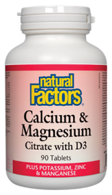 Natural Factors Calcium Magnesium Citrate With D 3 (90 Tablets)