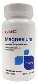 GNC Magnesium 250 MG (90 Vegetarian Tablets) Buy online in Pakistan on Saloni.pk