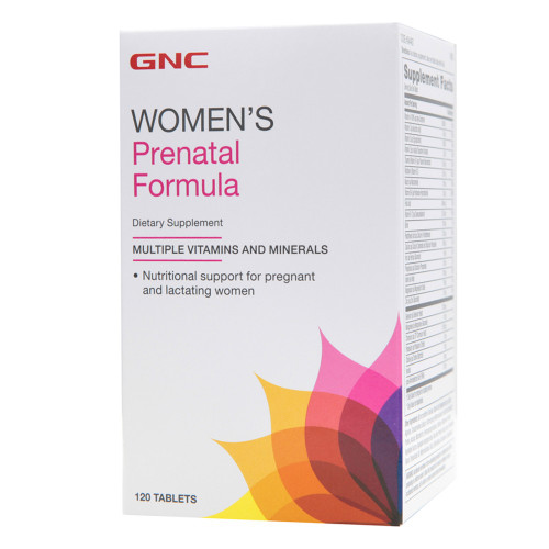 GNC Womens Prenatal Formula Dietary Supplement 120 Tablets