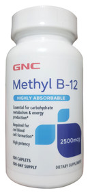 GNC Methyl B-12 2500 MG Dietary Supplement 100 Caplets buy online in pakistan