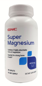 GNC Super Magnesium 400 MG Dietary Supplement 90 Caplets Buy online in Pakistan on Saloni.pk