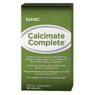 GNC Calcimate Complete 800mg D-3 2000IU Dietary Supplement (120 Caplets)