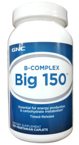 GNC B-Complex Big 150 Dietary Supplement (100 VegiCaplets)
