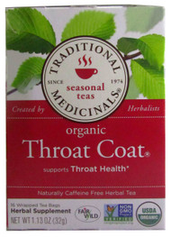 GNC Throat Coat Traditional Medicinals Seasonal Teas Herbal Supplement