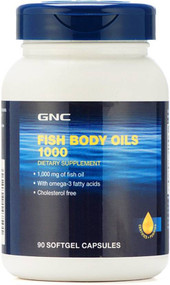GNC Fish Body Oils 1000 MG 90 Softgel Capsules buy online in Pakistan
