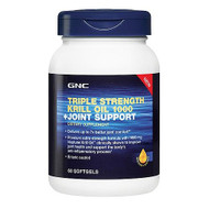 GNC Triple Strength Krill Oil 1000 + Joint Support 60 Softgel Capsules