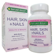 Nature's Bounty Hair, Skin & Nails 3,000mcg of Biotin 60 Coated Caplets Buy online in Pakistan on Saloni.pk