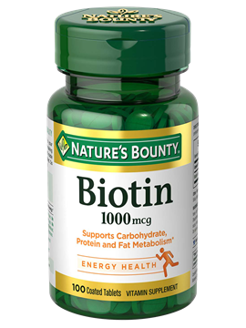 Nature's Bounty Biotin 1000mcg 100 Coated Tablets