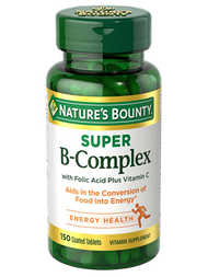 Nature's Bounty Super B-Complex 150 Coated Tablets