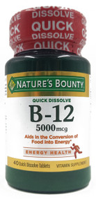 Nature's Bounty Vitamin B-12 5,000mcg 30 Tablets Buy online in Pakistan on Saloni.pk