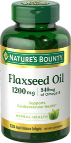 Nature's Bounty Flaxseed Oil 1,200mg - 125 Rapid Release Softgels Buy online in Pakistan on Saloni.pk