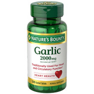 Nature's Bounty Garlic 2,000mg equivalent 120 Coated Tablets