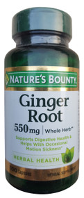 Nature's Bounty Ginger Root 550mg 100 Capsules buy online in pakistan