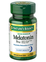 Nature's Bounty Melatonin 3 mg , 120 Quick Dissolve Tablets