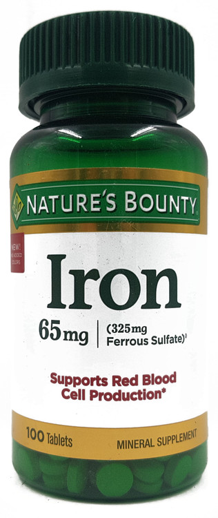 Nature's Bounty Iron 65mg (100 Tablets) Buy online in Pakistan on Saloni.pk