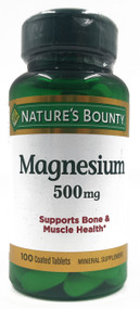 Nature's Bounty Magnesium 500 mg , 100 Coated Tablets Buy online in Pakistan on Saloni.pk