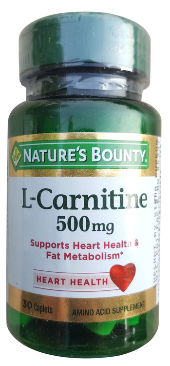 Nature's Bounty L-Carnitine 500mg 30 Caplets  buy online in pakistan