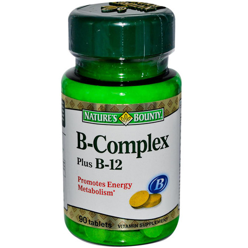 Nature's Bounty B-Complex Plus B-12 90 Tablets