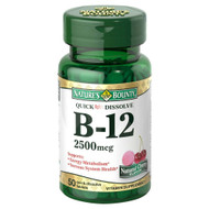 Natures Bounty B-12 2500mcg 50 Tablets