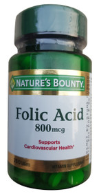 Natures Bounty Folic Acid 800mcg (250 Tablets) buy online in pakistan