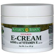 Natures Bounty Vitamin E Cream 6000 IU - 2.oz (60ML)