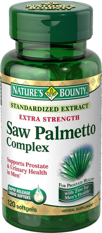 Natures Bounty Saw Palmetto Complex 120 Softgels