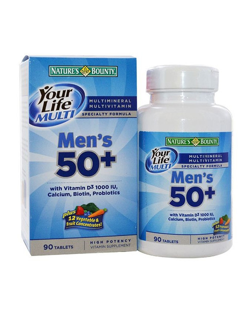 Natures Bounty Your Life Multi Men's 50+ (90 Tablets)