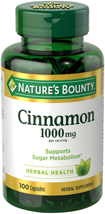 Natures Bounty Cinnamon 1000mg 100 Capsules