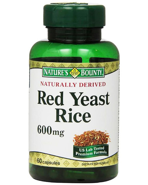 Natures Bounty Red Yeast Rice 600mg (60 Capsules)