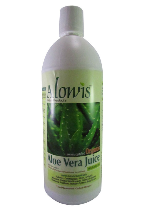 Alowis Organic Whole Leaf Aloe Vera Juice 1000 ML