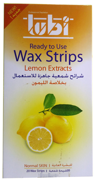 Lubi Ready To Use Wax strips Lemon Extracts 20 Strips best price buy online in pakistan