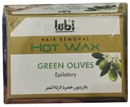 Lubi Hair Removal Hot Wax Green Olives 400g  best price