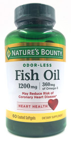 Nature's Bounty Fish Oil 1200mg Plus Omega 3 (60 Softgels) Buy online in Pakistan on Saloni.pk