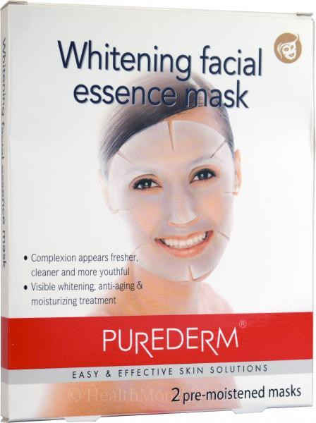 Purederm Whitening Facial Essence Mask (2 Pre-Moistened Mask)