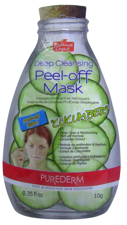"Purederm On-the-Go Deep Cleansing Peel Off Face Mask ""Cucumber"