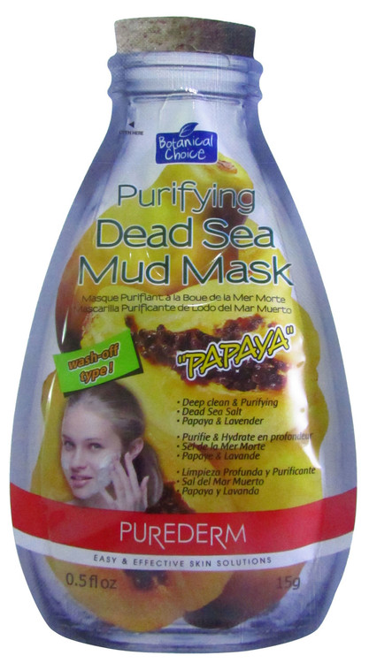 Purederm Purifying Dead Sea Mud Mask Papaya(Front)