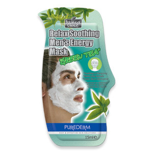 "Purederm Relax Soothing Men's Energy Mask ""Green Tea"