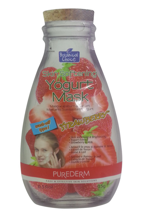 Purederm Skin Softening Yogurt Face Mask Strawberry(Front)