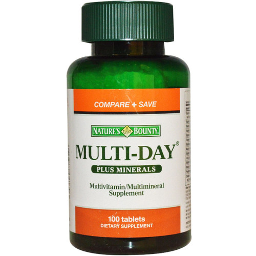 Nature's Bounty Multi-Day Plus Minerals 100 Tablets